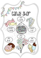 Candy Shop - Olika färger - Candy Shop grå A5