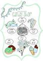 Candy Shop - Olika färger - Candy Shop mint A3 Laminerad