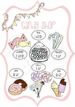 Candy Shop - Olika färger - Candy Shop rosa A3 Laminerad