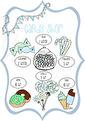 Candy Shop - Olika färger - Candy Shop grå/blå A3 Laminerad