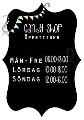 Candy Shop Öppettider - Olika färger - Candy Shop Öppettider A5