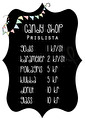 Candy Shop Prislista - Olika färger - Candy Shop Prislista A3 Laminerad