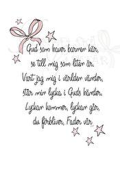 Gud som haver- rosett - Bön- rosett A5