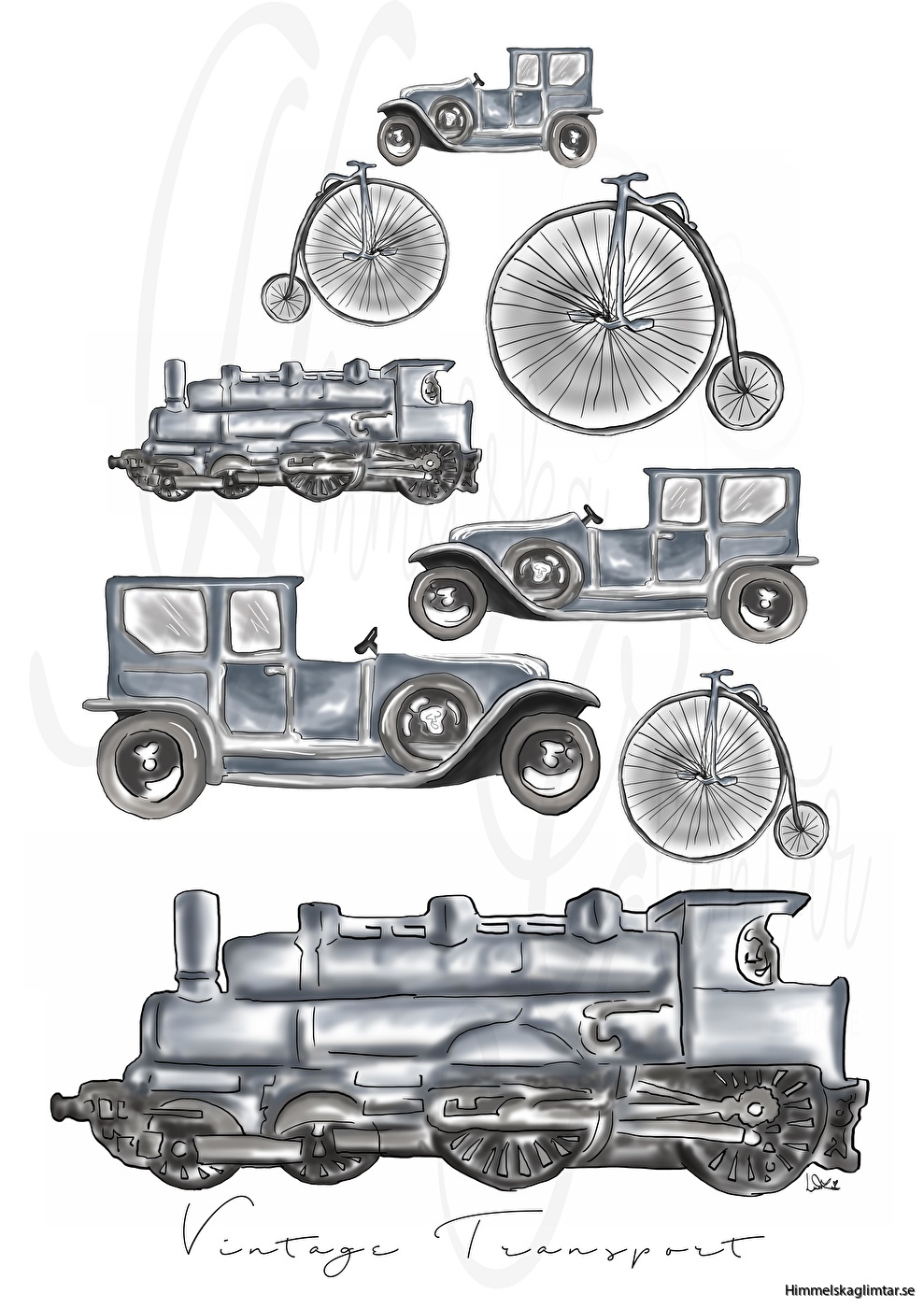 vintage transport-himmelskaglimtar-barnposter-barnrum
