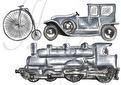 VÄGGSTICKERS- VINTAGE TRANSPORT - Vintage transport 3-pack
