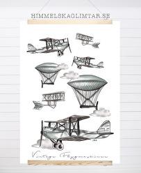 Vintage Flygmaskiner - Flygmaskiner A5