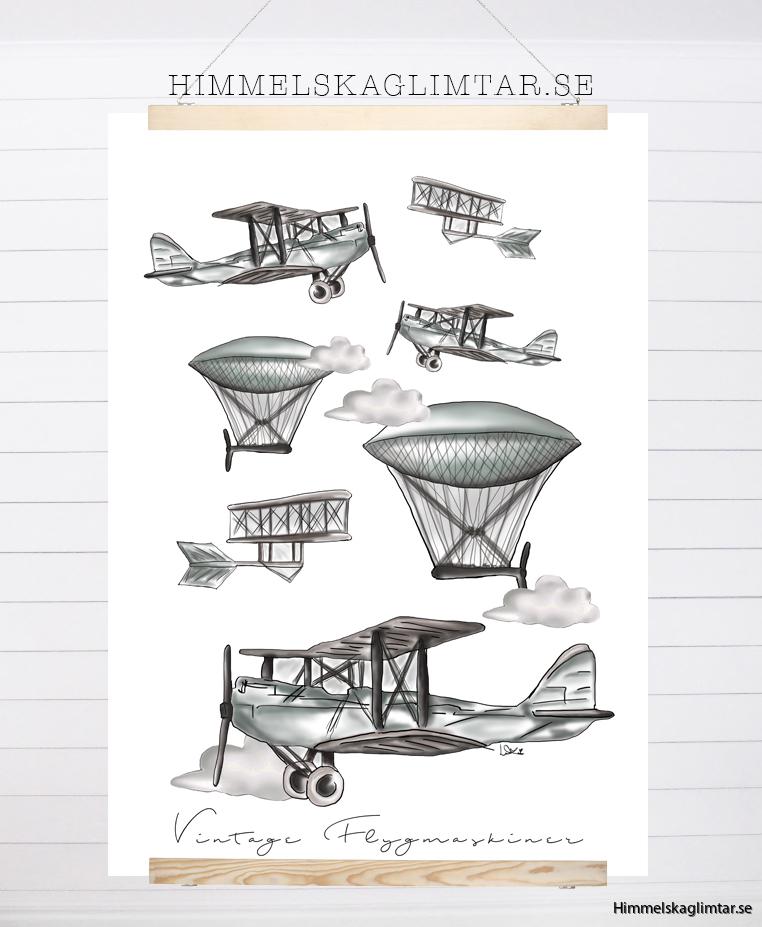 flygmaskiner-vintage-barnposter-barnrum-barnrumsinredning-himmelskaglimtar