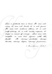 Love is patient, Cor 13 4-7 - Love is patient, A5