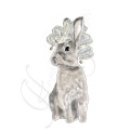 VÄGGSTICKERS- Nordic Masquerade - Hare 13 cm