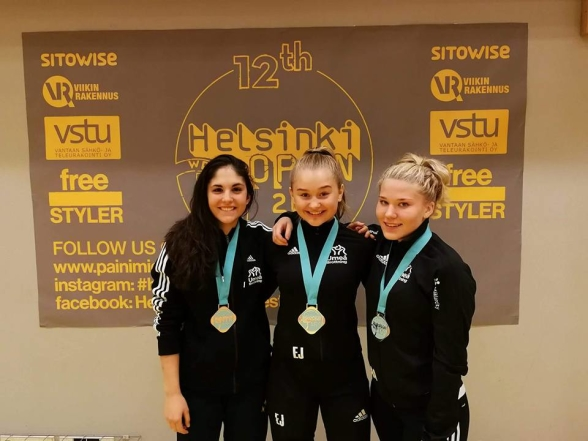 Från vänster: Simona, Ellen, Amanda