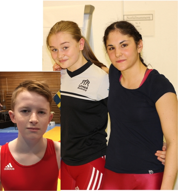 Från vänster: Max Gustafsson, Ellen Johansson, Simona Bolla