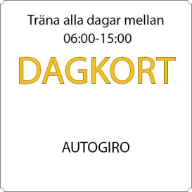 Dagkort - Autogiro