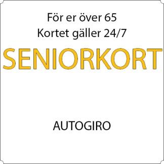 Pensionär - Autogiro - 12-mån Sandviken, Allkortet