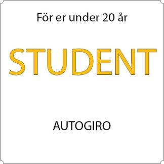 Student - Autogiro - 12-mån Sandviken, Allkortet