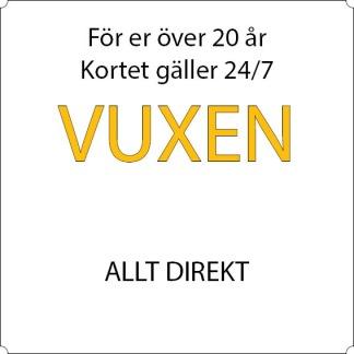 Vuxen - Allt direkt - 12-mån Sandviken, Allkortet