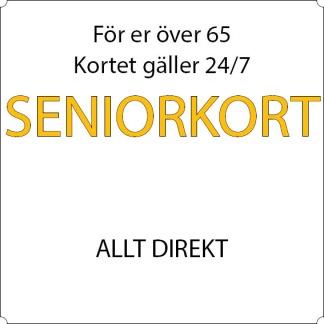 Pensionär - Allt direkt - 12-mån Sandviken, Allkortet