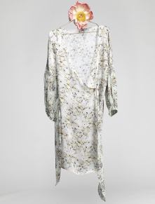 Malaga Dress - Chinese Flower, Grey - Size 1
