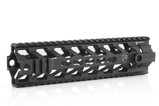PTS Fortis REV (TM) Free Float Rail System 9 inch for M4 AEG & GBB Series - Black