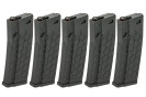 Dytac HexMag Licensed Airsoft 5-Pack M4/M16 120rd Magazines - BLACK