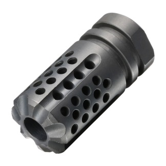 SLR Synergy Mini Compensator Flash Hider 5.56 14mm CCW ( Black ) - LR Synergy Mini Compensator Flash Hider 5.56 14mm CCW ( Black )