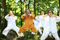 Qigong träning i parken Andarnas Hus