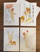 4 st dubbelvikta kort med kuvert