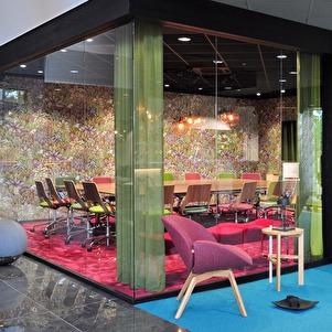 kontorsväggar i glas-glasdörrar