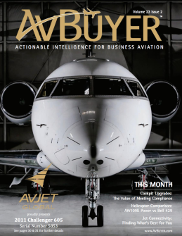 To read our new article in February issue of AvBuyer, click on the photo and go to page 46.