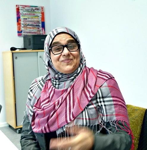 Hyam El Sayed har gått många kurser på Folkhögskolan i Angered, både konsntärliga och allmänna