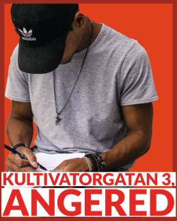 Konsten i samhället och Angereds författarskola ligger i angereds centrum på Kultivatorgatan 3.