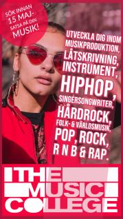Tqjej som uppmanar dig att söka som är intresserad av musikproduktion, låtskrivning, hip hop, pop, rock, Rnb, rap, instrument, singersongwriter, folk och världsmusik.
