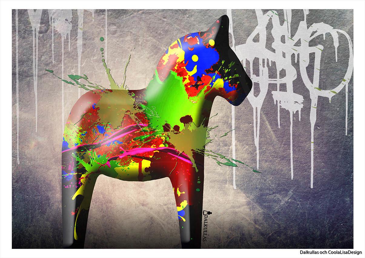 Dalahäst graffiti
