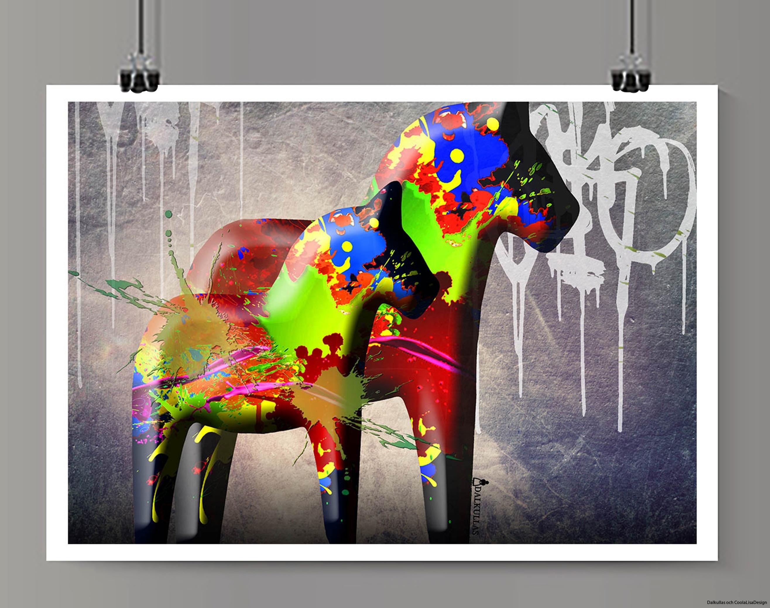 dalahäst graffiti 3