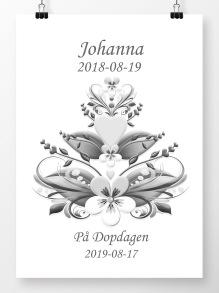 Doptavla kurbits i svartvitt på vit bakgrund - A4 210 x 297 mm