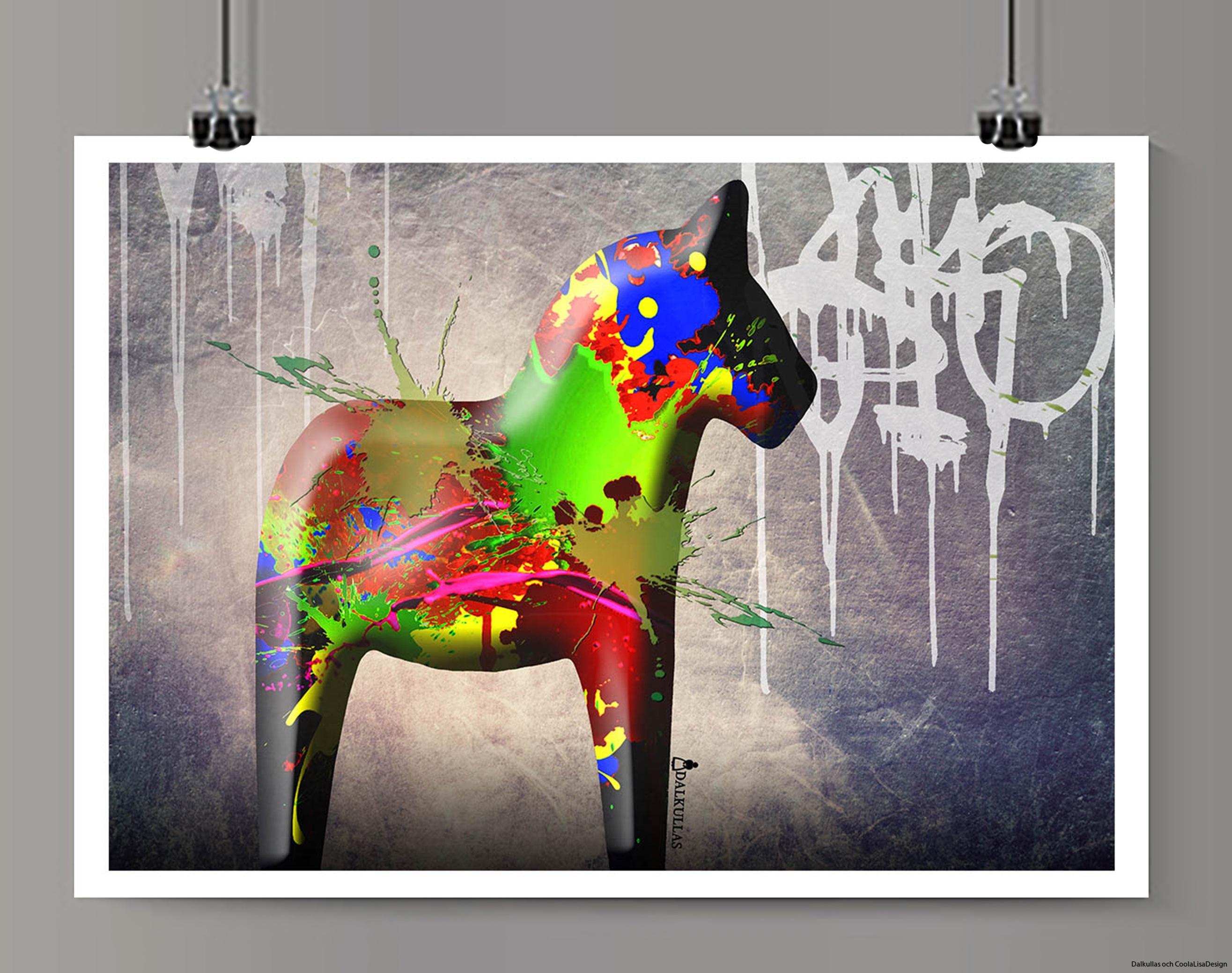 Dalahäst graffiti 1