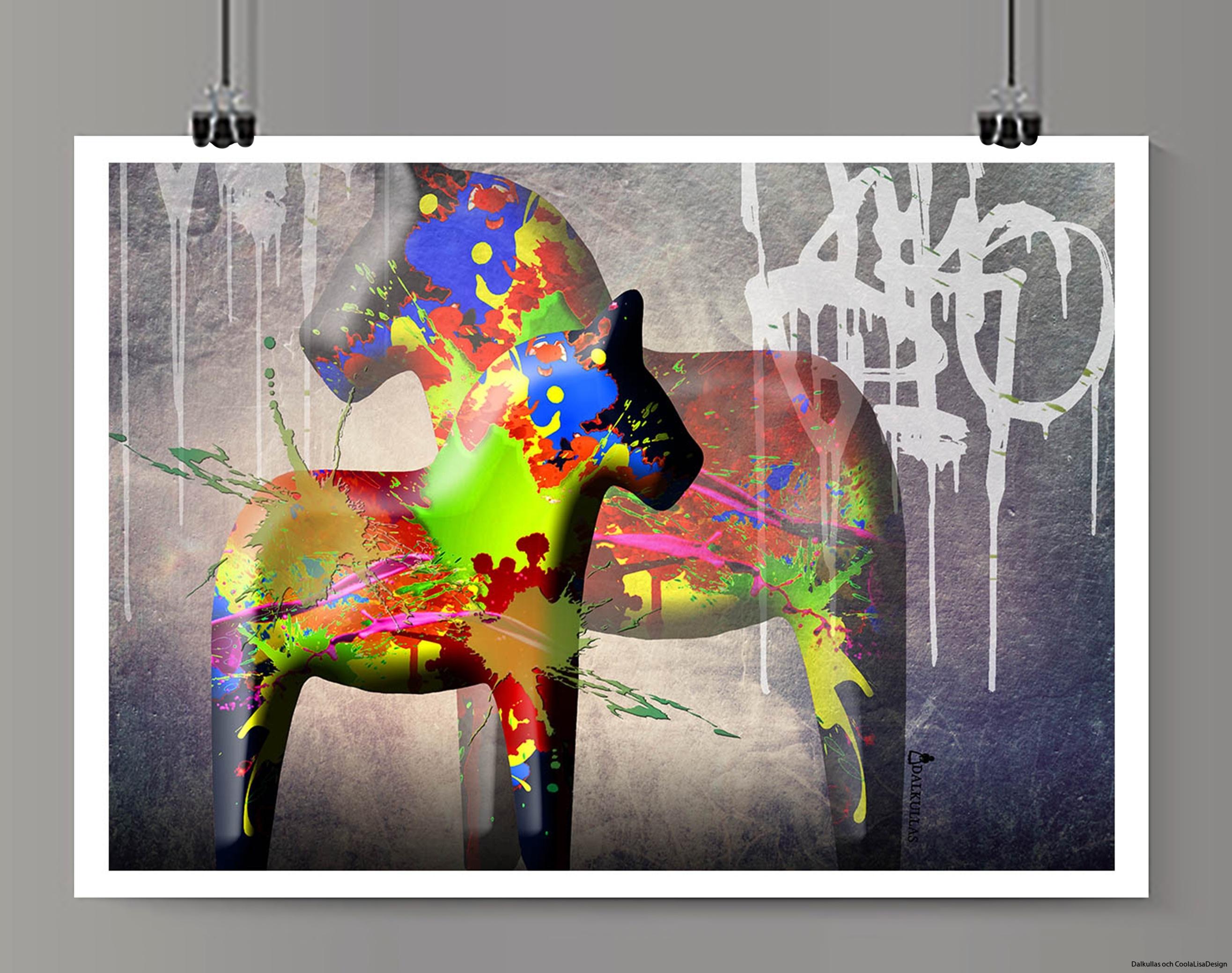 dalahäst graffiti 2