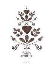 Bröllopstavla målad brun kurbits