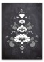 Kurbits i svart-grå-vita nyanser - 70 x 100 cm