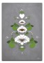 Kurbits i gröna och vita nyanser - 70 x 100 cm