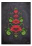 Kurbits i gröna och röda nyanser - 70 x 100 cm