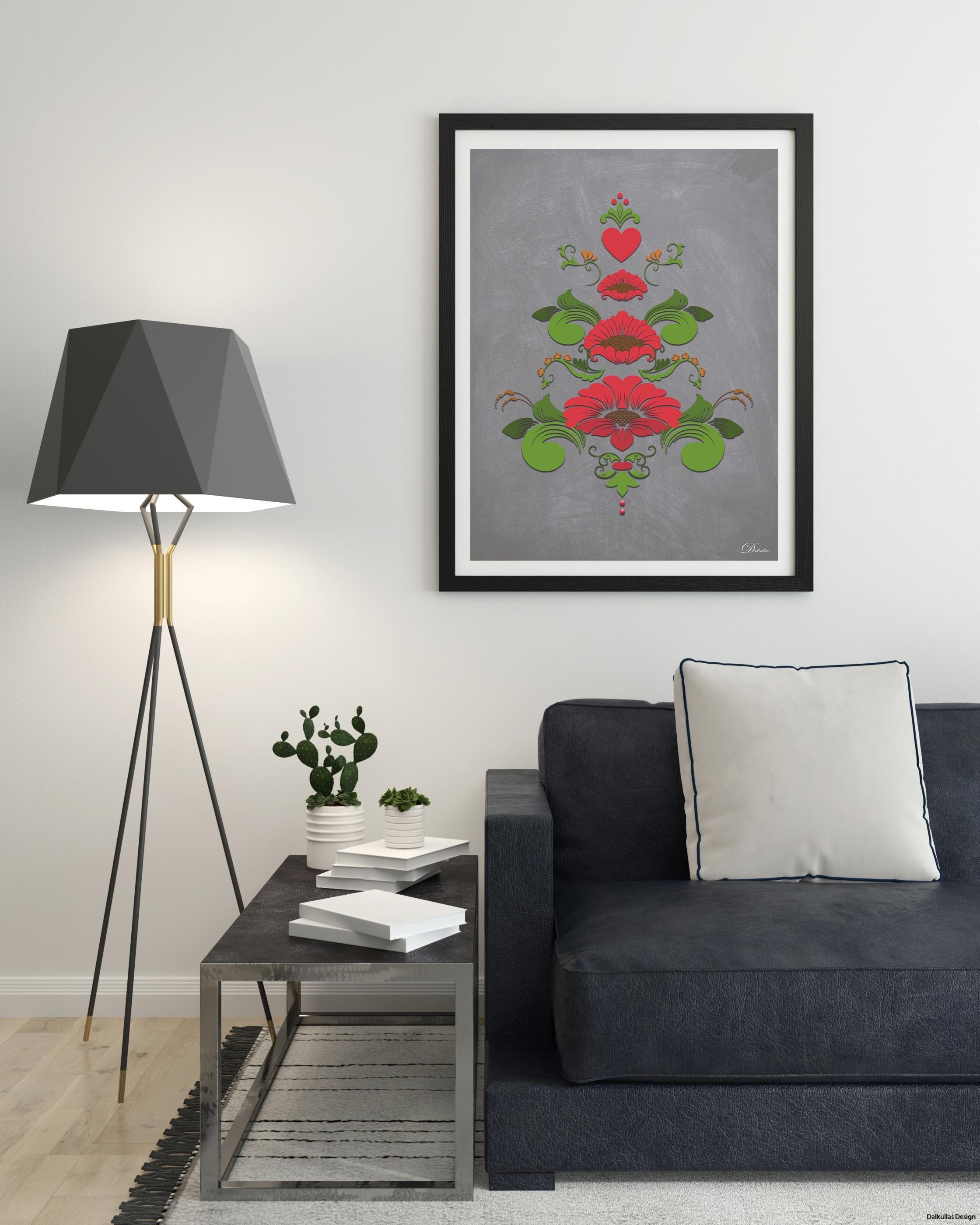 inspo röd kurbits på ljus vägg