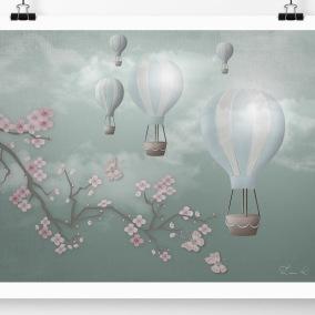 Barntavla med luftballonger