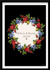 Personlig bröllopstavla - A4 21 x 29,7 cm