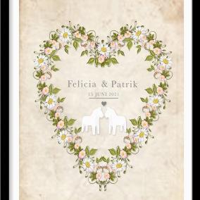 Personlig bröllopstavla