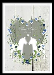 Bröllopstavla sommaräng - A4 210 x 297 mm