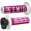 EMIG Lock on grepp - Fyrtakt Rosa/vit
