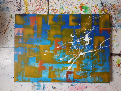 Acrylic on canvas. 70 cm x 50 cm x 4 cm.