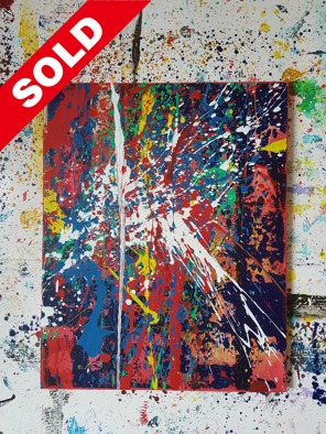 Acrylic on canvas. 50 cm x 40 cm x 1 cm.
