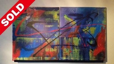 Acrylic on canvas. 120cm x 70cm x 1 cm.