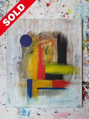 Acrylic on canvas. 70 cm x 60 cm x 1 cm.